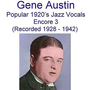 Popular 1920's Jazz Vocals (Encore 3) [Recorded 1928-1942]