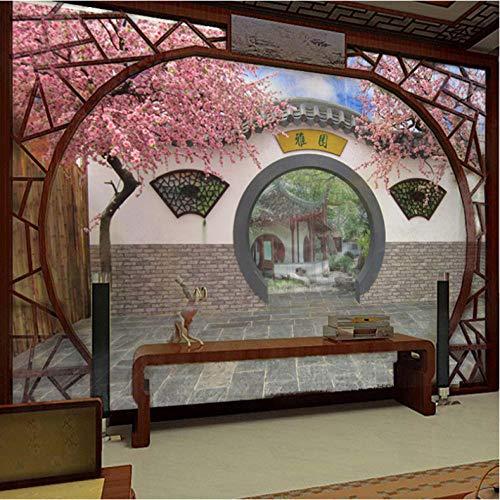 Pbbzl Gebruikergedefinieerde 3D fotobehang grote muurschildering behang oude tuin behang wandafbeelding voor de woonkamer 250x175cm