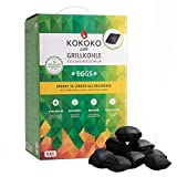 KOKOKO EGGS Premium Grillkohle, 8 kg Bio Kokos Grillbriketts in Eierform