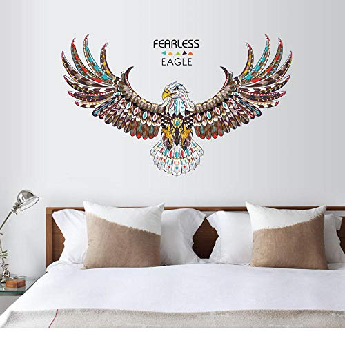 Oriental Condor Schlafzimmer Veranda TV Hintergrund dekorative Malerei PVC grün grün 120 * 74cm