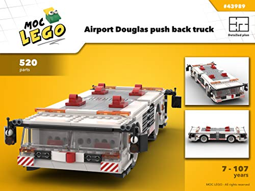 Airport Douglas push back truck (Instruction Only): MOC LEGO (English Edition)