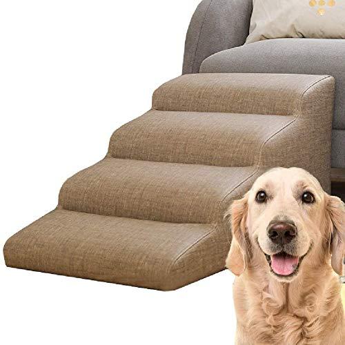 Pet Treppen 4 Schritt Haustier Rampe, Haustier Treppen Hilfe Hund Katzen Aufstieg Zum Auto, LKW, Couch, Und Das Bett - Wasserdicht, Leicht Zu Reinigen