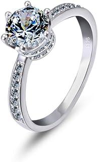lem Abrillantador de anillosAnillos de Boda de Compromiso de Plata de Ley 925, Regalo Ideal para los Amantes Exclusivo Exc...