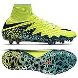 Nike Mens Hypervenom Phantom Ii Fg Volt/Black Hyper/Turq CLR Jade Soccer Shoes - 6A