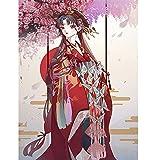 NA/ Pintar por números Mujer en Rojo DIY Pintura al óleo Pintura Kits de números para niños Adultos Principiantes Estudiantes Pared Lienzo Arte decoración del hogar 40x50cm sin Marco