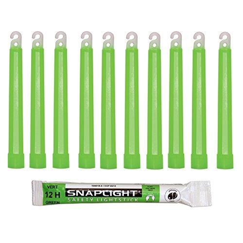 Cyalume Technologies SA8-108076AM Bâton Lumineux, Fluorescent, Durée 12 heures, 15 cm, Vert (Boîte de 10)