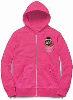 Fox Republic ナマケモノの赤ちゃん ポケット 警察官 ピンク キッズ パーカー シッパー スウェット トレーナー 110cm