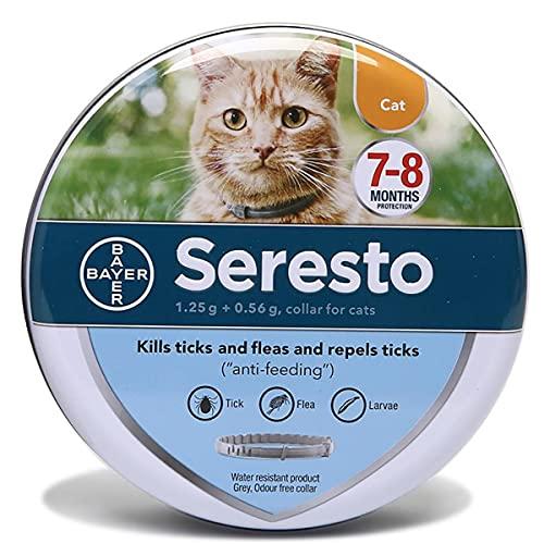 NZQLJT Collar Antipulgas para Perros, Collar De Control De Plagas Repelente 25'Longitud Ajustable, Eficaz Collar Antipulgas Y Garrapatas 7-8 Meses De Protección (Size : Cat)