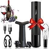 Amdo Abridor Vino Electrico, Profesional Automatico Abrelatas de Vino con un USB, Cortacápsulas, Tapón de Vino Silicona, Aireador Vertedor, Restaurante, Fiesta, Gift For Family