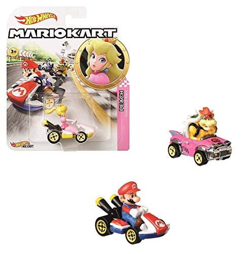 Mattel- VEHICULO Mario Kart Hot Wheels SURT Control Remoto (