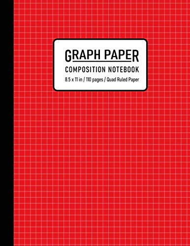 Graph Paper Composition Notebook: Quad Ruled 4x4, Grid Paper for Math and Science Students ( 110 Pages, 8.5 x 11) (Math Notebook)