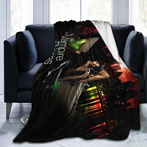 Wteqofy The Vampire Diaries Ultra-Soft Micro Fleece Blanket Throw Fuzzy Lightweight Hypoallergenic Plush for Kids Boys Girls Adults 3D Fashion Print Blanket Perfect for Couch, Sofa, Bed, 50 x40