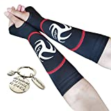 Volleyball Padded Sleeves for Younger Girls and Boys - Passing Forearm Sleeves with Protection Pad (Red Padded Sleeves with Thumbhole, 10)