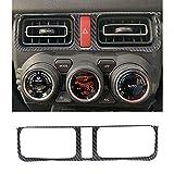 新型 スズキ ジムニー Jimny Suzuki 2019+ センターエアコンパネルカバー/エアコン吹き出し口/セントラルコントロール排気口フレーム装飾 JB64W JB74W スズキ アクセサリー おしゃれ カーボン調 パーツ 内装 トリム