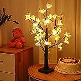 JSBVM Kapok Lámparas de Mesa de Flores, lámpara de árbol de Escritorio, lámpara de Mesa de Dormitorio, iluminación de Noche de Humor, Regalo de Vida, mesita de Noche