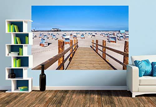Premium Foto-Tapete SPO Strandblick (versch. Größen) (Size M   279 x 186 cm) Design-Tapete, Wand-Tapete, Wand-Dekoration, Photo-Tapete, Markenqualität von ERFURT