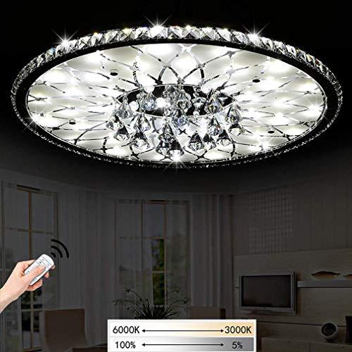 Moderne LED-Deckenleuchte Runde Deckenlampe Wohnzimmer Schlafzimmer Lampe LED Kristall Deckenleuchten Fernbedienung Esszimmer Lobby Küche Deckenbeleuchtung Kinderzimmer Leuchte 60W (Ø68cm-Dimmbar)
