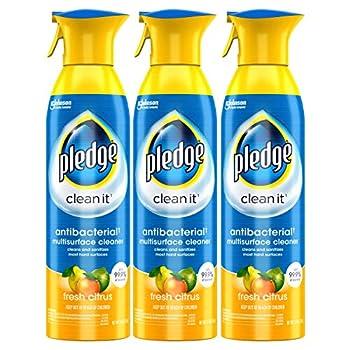 Pledge antibacterial multisurface cleaner spray