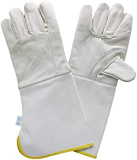 FJFSC Extended Welding Gloves/Welding Workers Protective Heat-Resistant Wear-Resistant Safety Work Gloves