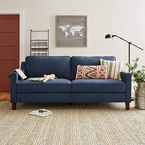 "Amazon Brand – Stone & Beam Blaine Modern Sofa Couch, 79.5""W, Navy Blue"