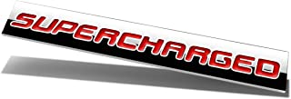 Chrome Finish Metal Emblem Supercharged Badge (Red Letter)