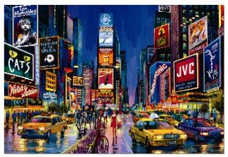 1000 piece puzzles time square - 7