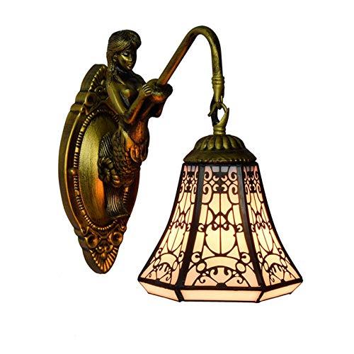 Comedor, dormitorio, bar, pasillo, lámpara de pared de balcón Tiffany de estilo árabe europeo (20 cm)