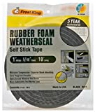 Rubber Foam Weatherseal Self Stick Tape Weather Strip Tape 1' x 5/16' x 10'