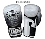 Top King Boxing Gloves TKBGSS-01 Supper Star Silver 8,10,12,14,16 oz. Sparring Training Muay Thai Kickboxing MMA K1 (16 oz)