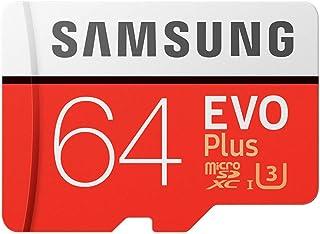 Goolsky Memory 64GB EVO Plus MicroSDXC 100MB/s UHS-I (U3) Class 10 TF Flash Memory Card High Speed for Phone Tablet Camera