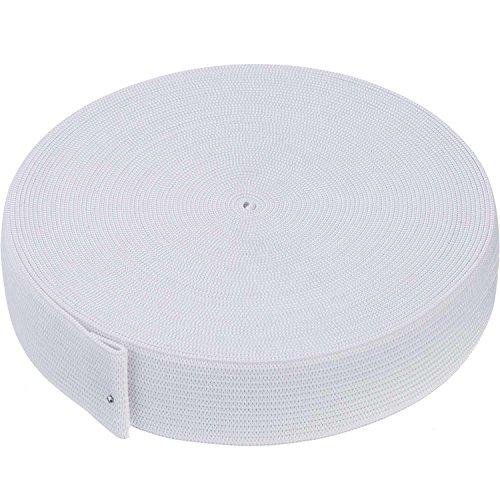 White Knit Elastic Spool (1 Inch x 11 Yard)