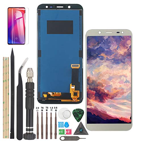 YWL-OU Reemplazo de Pantalla para Samsung Galaxy J6 LCD Display J600 LCD 2018 Digitalizador de Pantalla táctil +con un Conjunto de Herramientas (Oro)