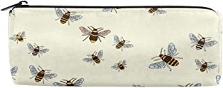 Bees Pattern Pencil Case Pouch Teacher Gift Gadget Bag Make Up Case Cosmetic Bag