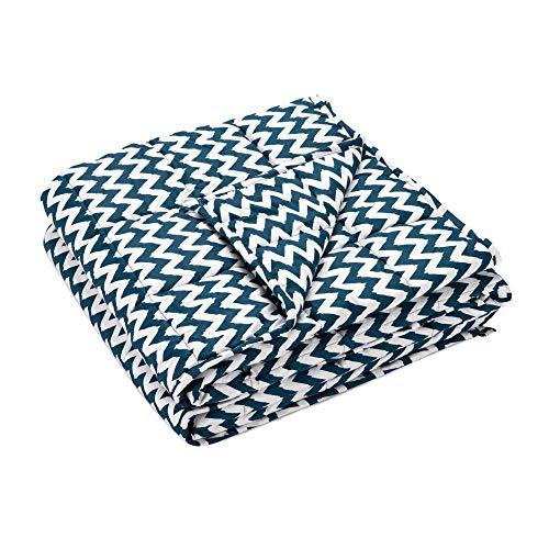 Navaris Couverture Lestée - Couverture Pondérée Relaxante 135x200cm - Contre Insomnie Anxiété - Cocooning - 100% Coton - 8,8kg