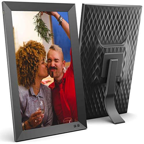 NIX 15.6 Zoll Digitaler Bilderrahmen. FHD Fotos in gleicher Diashow, IPS-Display, Automatische Bilderdrehung, Energiesparender Bewegungssensor, Wandmontierbar, Uhr/Kalenderfunktion, Fernbedienung