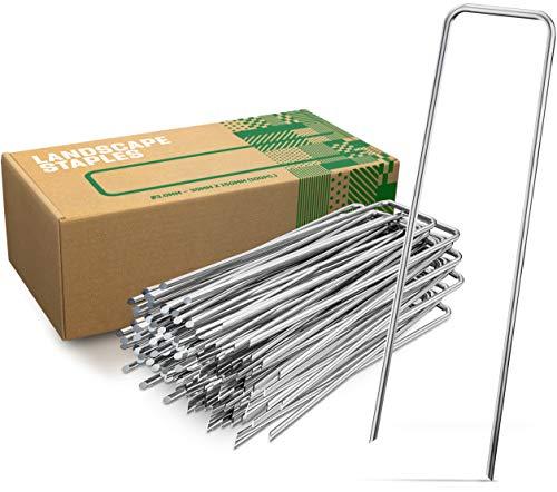 GardenGloss Anti-Rost Erdanker aus Stahl (100 Stück) - Stabile Bodenanker für Unkrautvlies, Gartenvlies, Zaun & Camping - 150 MM Lang, 30 MM Breit, Ø 3 MM