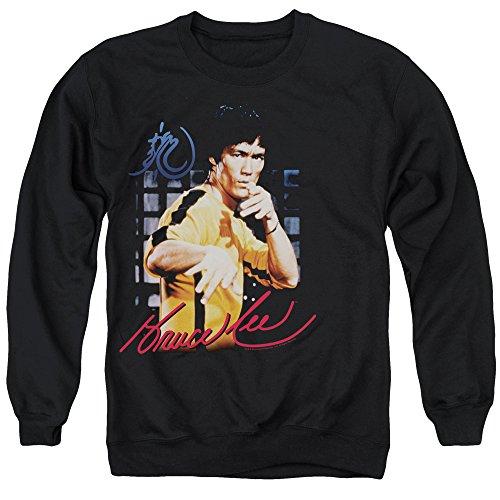 Bruce Lee - - Combinaison jaune Chandail Hommes, Large, Black
