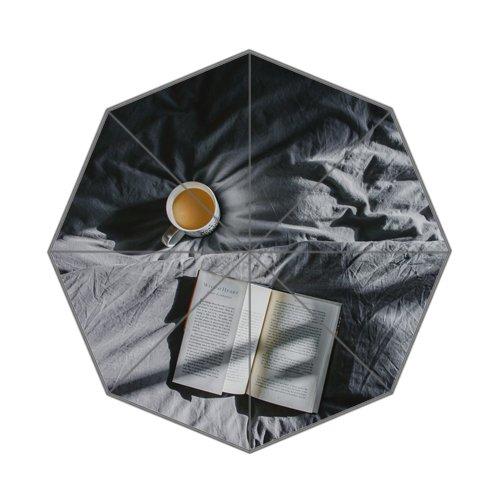 Flipped zomer Y thee en boek mooi leven aangepaste kunst prints paraplu