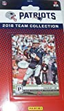 New England Patriots 2018 Panini Factory Sealed Complete Mint 14 Card Team Set with Tom Brady, Rob Gronkowski, James White and a Sony Michel Rookie Card Plus
