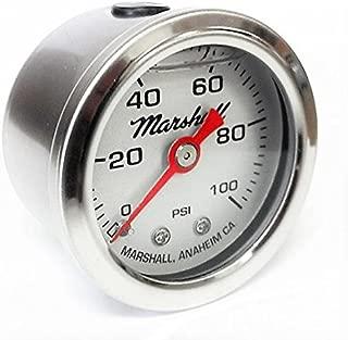 Marshall Instruments LS00100 Liquid Filled Fuel Pressure Gauge Silver