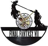 Cloud Strife VS Sephiroth Vinyl Clock, Final Fantasy 7 Vinyl Record Wall Clock, Final Fantasy 7 Wall Clock, Vintage Gift, Home Decor, Gift for Her, Gift for Him