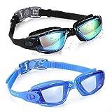Aegend Swim Goggles, 2 Pack Swimming Goggles No Leaking Anti Fog Adult Men Women