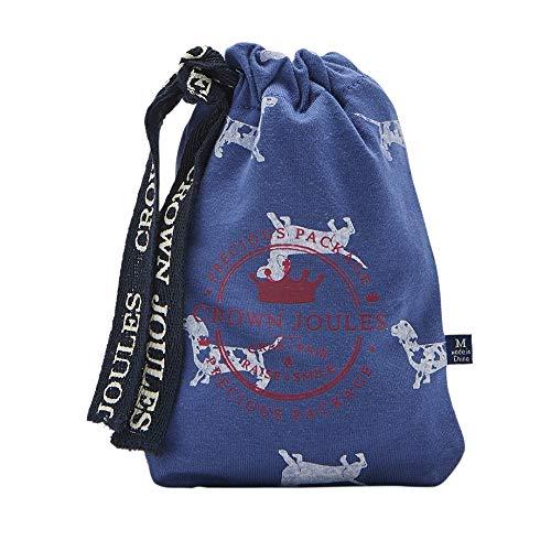 Joules Crown Single Mens Simple sous-vêtements s/s 19 Blue Sausage Dog XXL