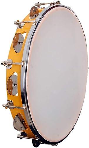 Tijarat Online Store Tambourine Fibre Dafli Hand Percussion Musical Instrument White 10 inch