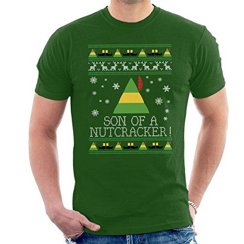 Zoon van een notenkraker Elf citaat kerst gebreide mannen T-Shirt