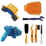 Juego de 8 herramientas de limpieza de bicicleta de precisión, incluye limpiador de cadena para bicicleta de montaña