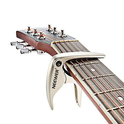 Neewer easy-to-use Tune Quick Change nw-19capotasto per chitarra acustica o elettrica a 6corde, Bass, ukulele, Banjo e mandolino, realizzata in resistente e solido Kirsite lega - argento