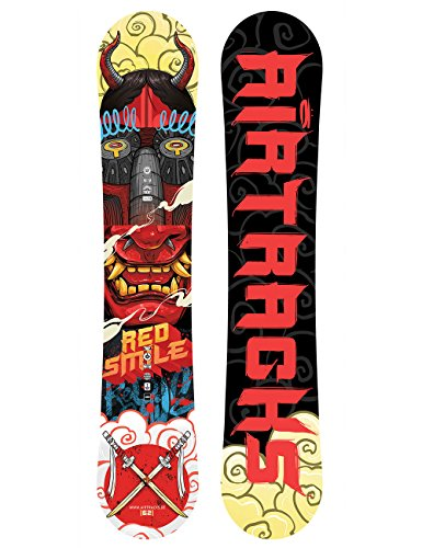 AIRTRACKS Red Smile Snowboard Wide Hybrid Rocker/All Mountain/Freeride / 156 159 162 cm