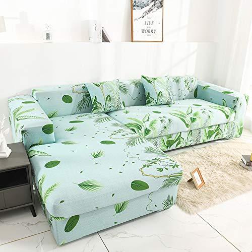 DKLE Funda de Sofá con Estampado 1 Plaza, Couch Cover Forma de L, Protector de Sofá Seccional (Compre 2/3 Piezas para Sofá En Forma de L/U), Fundas Antideslizantes