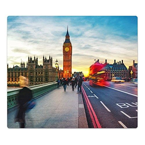 DekoGlas Herdabdeckplatte inkl. Noppen 'Westminster Bridge', gehärtetes Glas, Herd Ceranfeld Abdeckung, einteilig universal 52x60 cm